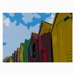 Brightly Colored Dressing Huts Large Glasses Cloth
