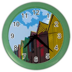 Brightly Colored Dressing Huts Color Wall Clocks