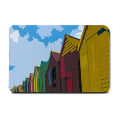 Brightly Colored Dressing Huts Small Doormat
