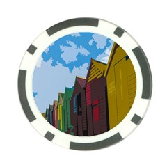 Brightly Colored Dressing Huts Poker Chip Card Guard