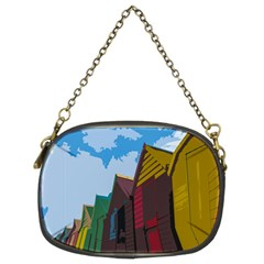 Brightly Colored Dressing Huts Chain Purses (Two Sides)