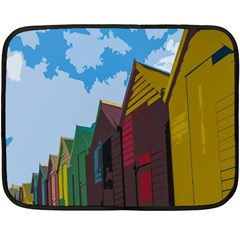Brightly Colored Dressing Huts Double Sided Fleece Blanket (Mini)