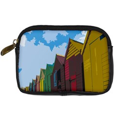 Brightly Colored Dressing Huts Digital Camera Cases