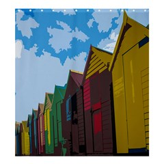 Brightly Colored Dressing Huts Shower Curtain 66  x 72  (Large)