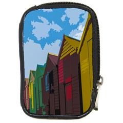 Brightly Colored Dressing Huts Compact Camera Cases