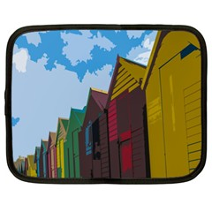 Brightly Colored Dressing Huts Netbook Case (XL)