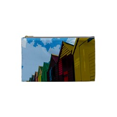 Brightly Colored Dressing Huts Cosmetic Bag (Small)
