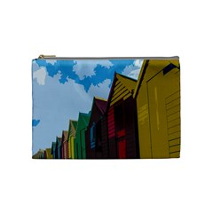Brightly Colored Dressing Huts Cosmetic Bag (medium)