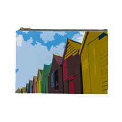 Brightly Colored Dressing Huts Cosmetic Bag (Large)