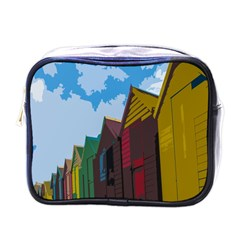 Brightly Colored Dressing Huts Mini Toiletries Bags