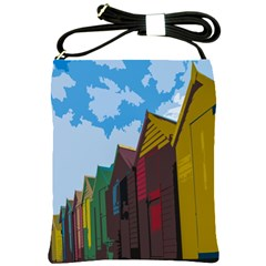 Brightly Colored Dressing Huts Shoulder Sling Bags