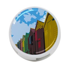 Brightly Colored Dressing Huts 4-Port USB Hub (Two Sides)