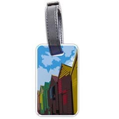 Brightly Colored Dressing Huts Luggage Tags (Two Sides)
