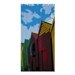 Brightly Colored Dressing Huts Shower Curtain 36  x 72  (Stall)