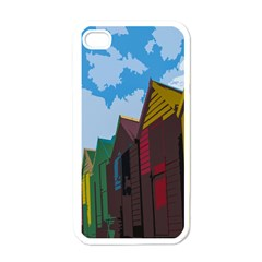 Brightly Colored Dressing Huts Apple Iphone 4 Case (white)