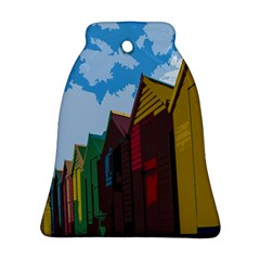 Brightly Colored Dressing Huts Bell Ornament (Two Sides)