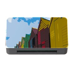 Brightly Colored Dressing Huts Memory Card Reader with CF