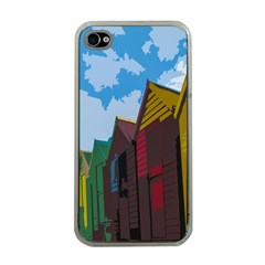 Brightly Colored Dressing Huts Apple Iphone 4 Case (clear)