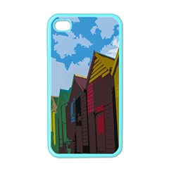 Brightly Colored Dressing Huts Apple Iphone 4 Case (color)