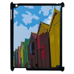 Brightly Colored Dressing Huts Apple iPad 2 Case (Black)