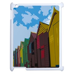 Brightly Colored Dressing Huts Apple iPad 2 Case (White)