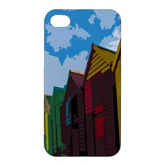 Brightly Colored Dressing Huts Apple Iphone 4/4s Hardshell Case