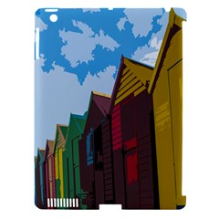 Brightly Colored Dressing Huts Apple Ipad 3/4 Hardshell Case (compatible With Smart Cover)