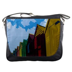 Brightly Colored Dressing Huts Messenger Bags