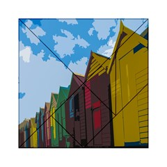 Brightly Colored Dressing Huts Acrylic Tangram Puzzle (6  x 6 )