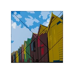 Brightly Colored Dressing Huts Acrylic Tangram Puzzle (4  x 4 )