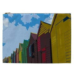 Brightly Colored Dressing Huts Cosmetic Bag (XXL)