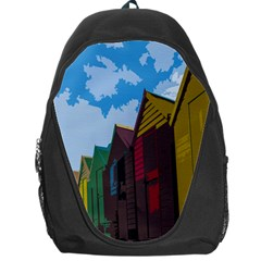 Brightly Colored Dressing Huts Backpack Bag
