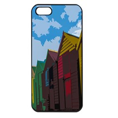 Brightly Colored Dressing Huts Apple Iphone 5 Seamless Case (black)