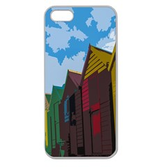 Brightly Colored Dressing Huts Apple Seamless iPhone 5 Case (Clear)