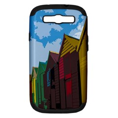 Brightly Colored Dressing Huts Samsung Galaxy S Iii Hardshell Case (pc+silicone)
