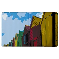 Brightly Colored Dressing Huts Apple iPad 2 Flip Case
