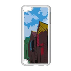 Brightly Colored Dressing Huts Apple iPod Touch 5 Case (White)