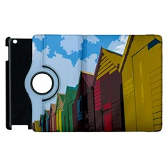 Brightly Colored Dressing Huts Apple Ipad 2 Flip 360 Case