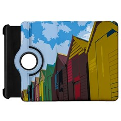 Brightly Colored Dressing Huts Kindle Fire HD 7