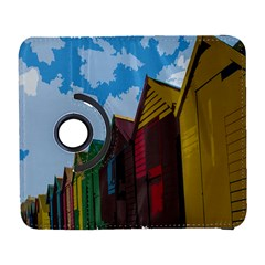 Brightly Colored Dressing Huts Galaxy S3 (Flip/Folio)