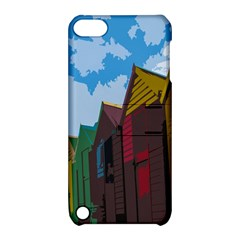 Brightly Colored Dressing Huts Apple iPod Touch 5 Hardshell Case with Stand