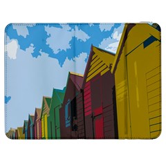Brightly Colored Dressing Huts Samsung Galaxy Tab 7  P1000 Flip Case