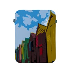 Brightly Colored Dressing Huts Apple Ipad 2/3/4 Protective Soft Cases