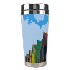 Brightly Colored Dressing Huts Stainless Steel Travel Tumblers