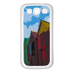 Brightly Colored Dressing Huts Samsung Galaxy S3 Back Case (white)