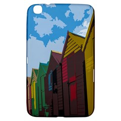 Brightly Colored Dressing Huts Samsung Galaxy Tab 3 (8 ) T3100 Hardshell Case