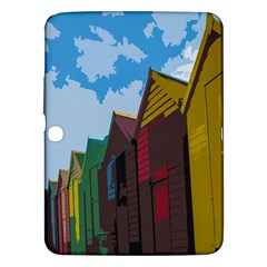 Brightly Colored Dressing Huts Samsung Galaxy Tab 3 (10.1 ) P5200 Hardshell Case
