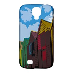 Brightly Colored Dressing Huts Samsung Galaxy S4 Classic Hardshell Case (PC+Silicone)