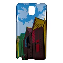 Brightly Colored Dressing Huts Samsung Galaxy Note 3 N9005 Hardshell Case