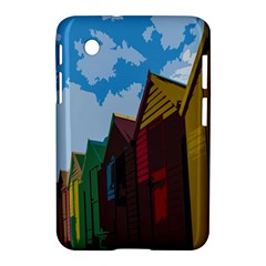 Brightly Colored Dressing Huts Samsung Galaxy Tab 2 (7 ) P3100 Hardshell Case
